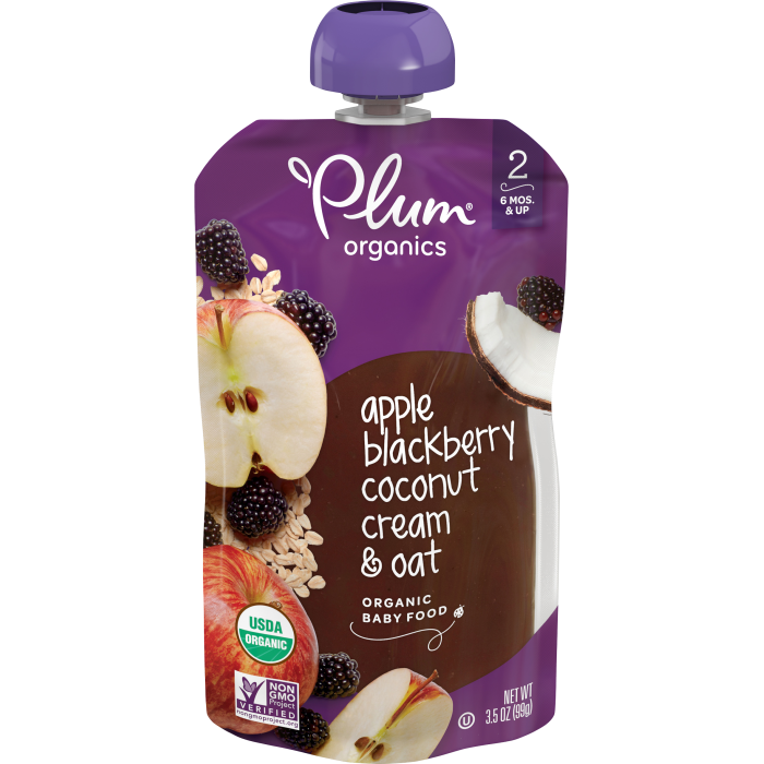 Apple, Blackberry & Coconut Cream Baby Food