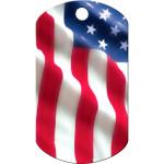 USA Flag Large Military ID Quick-Tag