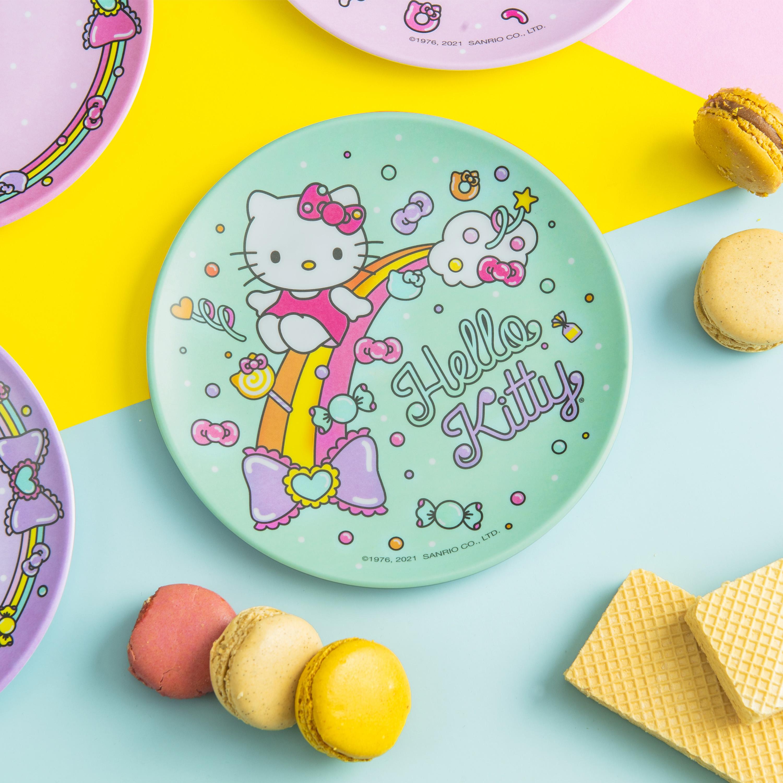 Sanrio 6-inch Appetizer Plate, Hello Kitty, 4-piece set slideshow image 6