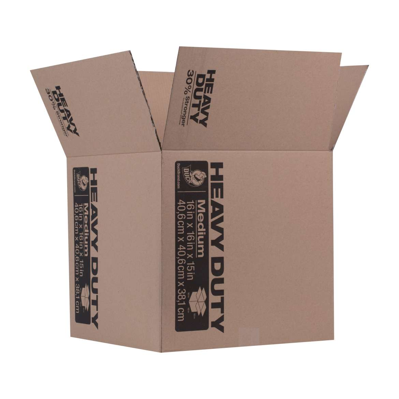 Duck® Brand Heavy Duty Kraft Box - Brown, 16 in. X 16 in. x 15 in. Image