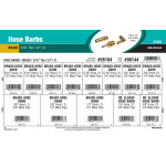 "Brass Hose Barbs Assortment (3/16"" thru 1/2"" Inner Dia.)"