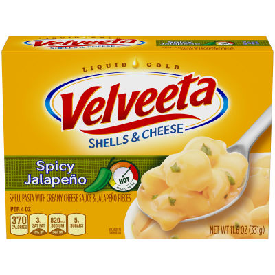Velveeta Bold Jalapeno Shells & Cheese 11.6 oz Box