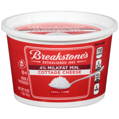 Breakstone's Small Curd 4% Milk fat Min Cottage Cheese 16 oz Tub