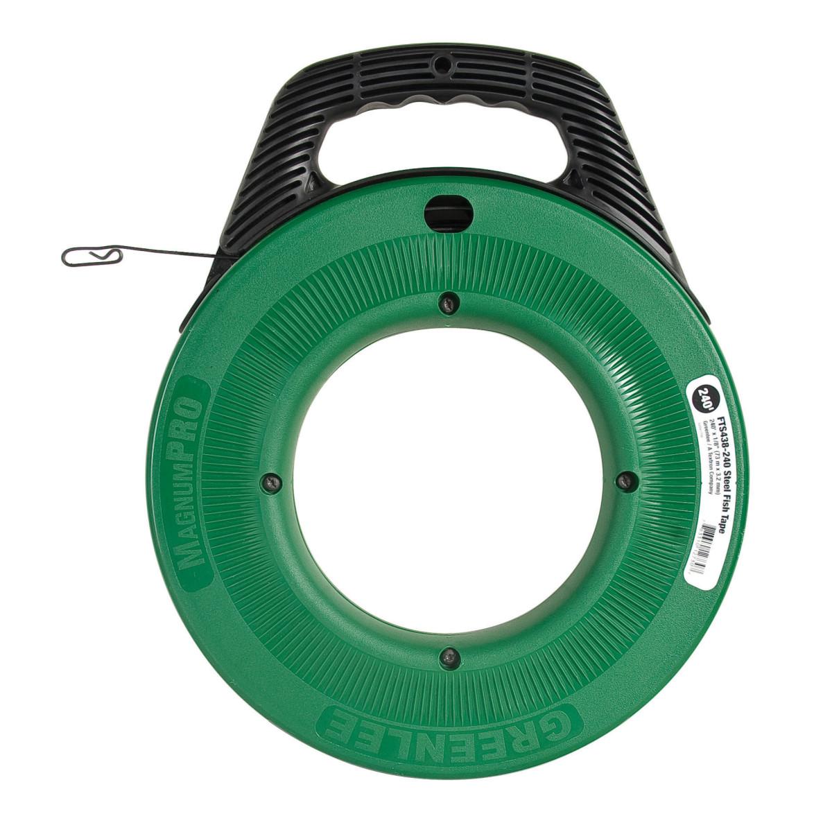 "Greenlee FTS438-240BP Spring Steel Fish Tape - 240' x 1/8"" (Bulk Pack)"
