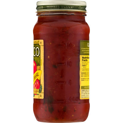 Classico Traditional Sweet Basil Pasta Sauce 24 oz Jar