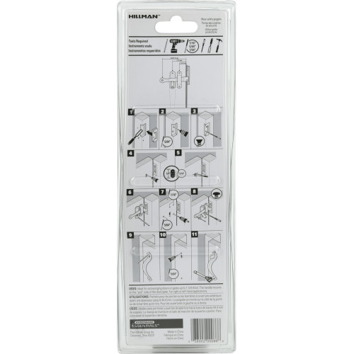 Hardware Essentials Black Thumb Latch - Out Swinging Gates up to 1-3/4