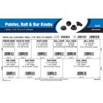 """Pointer, Ball & Bar Knobs Assortment (11/16"""" Thru 2-1/4"""" Diameter)"""