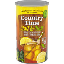 Country Time Half & Half Lemonade Iced Tea Drink Mix, 5.16 lb Canister