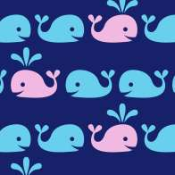 Swatch for Printed Duck Tape® Brand Duct Tape - Whale of a Time, 1.88 in. x 10 yd.