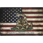 "Aluminum Don't Tread on Me Sign, 12"" x 18"""