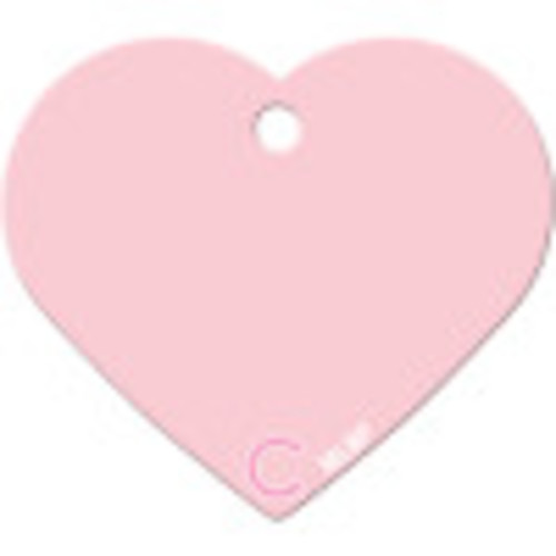 Chicago Cubs Pink Large Heart Quick-Tag 5 Pack