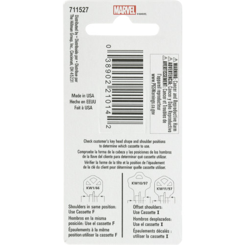 Marvel's Rocket and Groot Kwikset 66/97 KW1/10 Key Blank