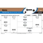 Class 10.9 Metric Flange Bolts & Nuts Assortment (M12-1.50 Fine Pitch)