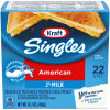 Kraft Singles 2% Milk Reduced Fat American Cheese Slices, 14.7 oz (22 slices)
