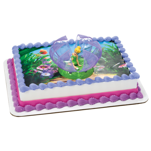 Tinker Bell in Flower PhotoCake® Edible Image® DecoSet® Background