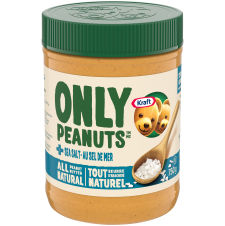 Kraft Only Peanuts All Natural Peanut Butter with Sea Salt 750g