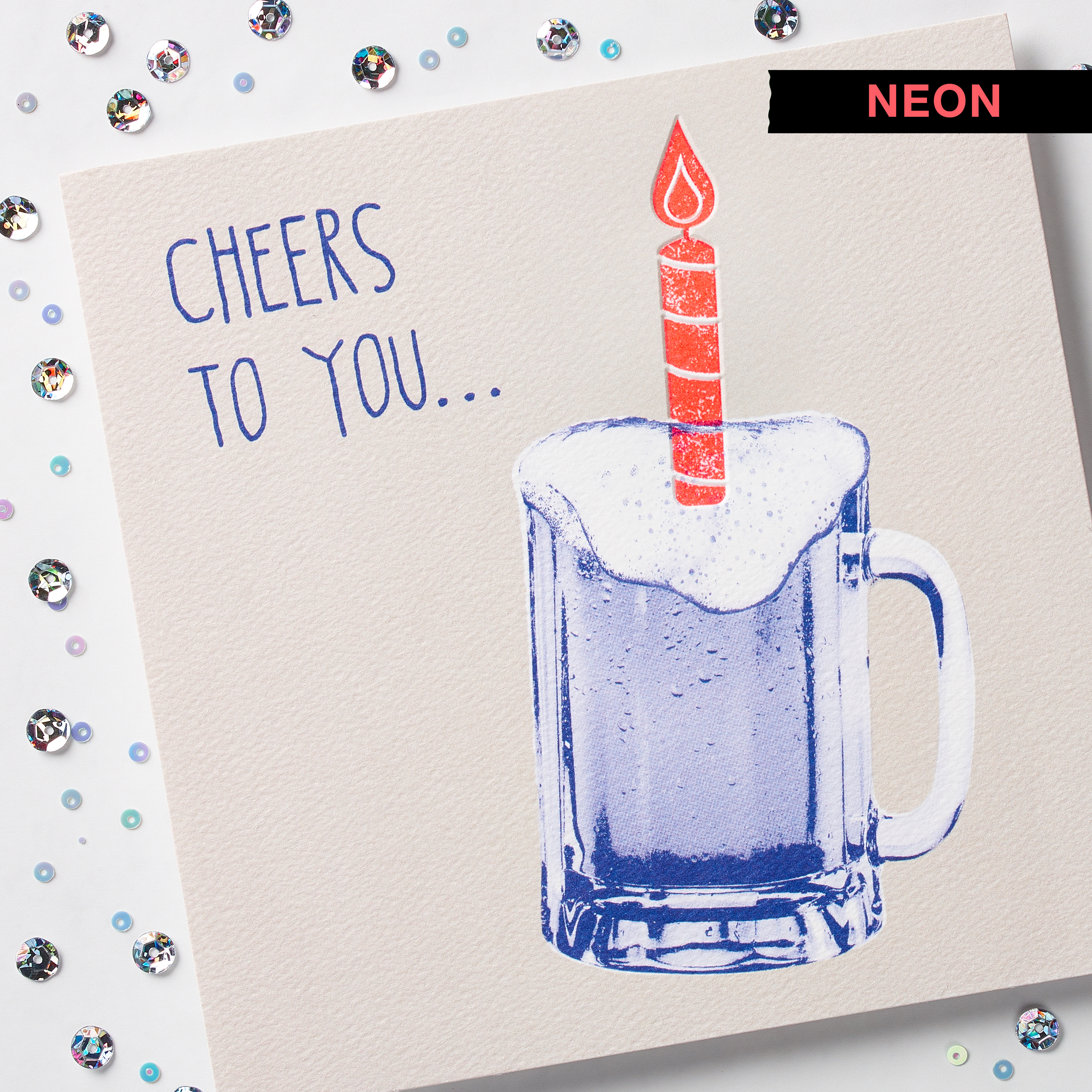 Cheers Birthday Card image