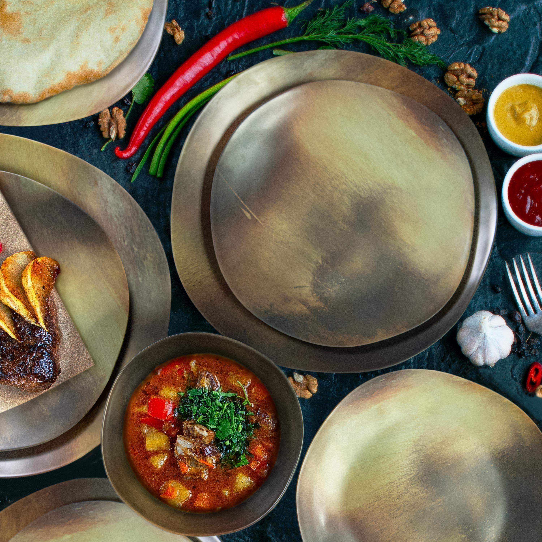 Organica Dinnerware Set, Metallic, 12-piece set slideshow image 6