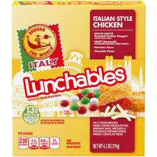 Lunchables Around The World Italian Style Chicken Tacos 4.2 oz Tray