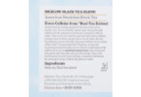 Ingredient panel of American Breakfast Black Tea box