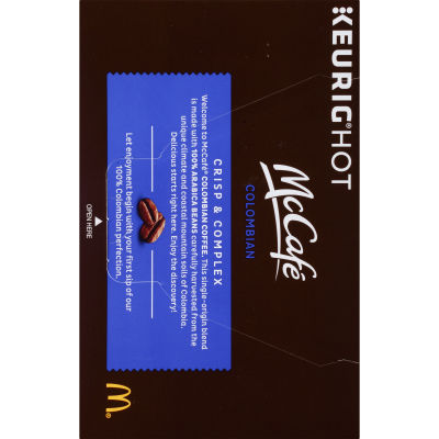 McCafe Colombian Coffee K-Cup Pods, 12 count