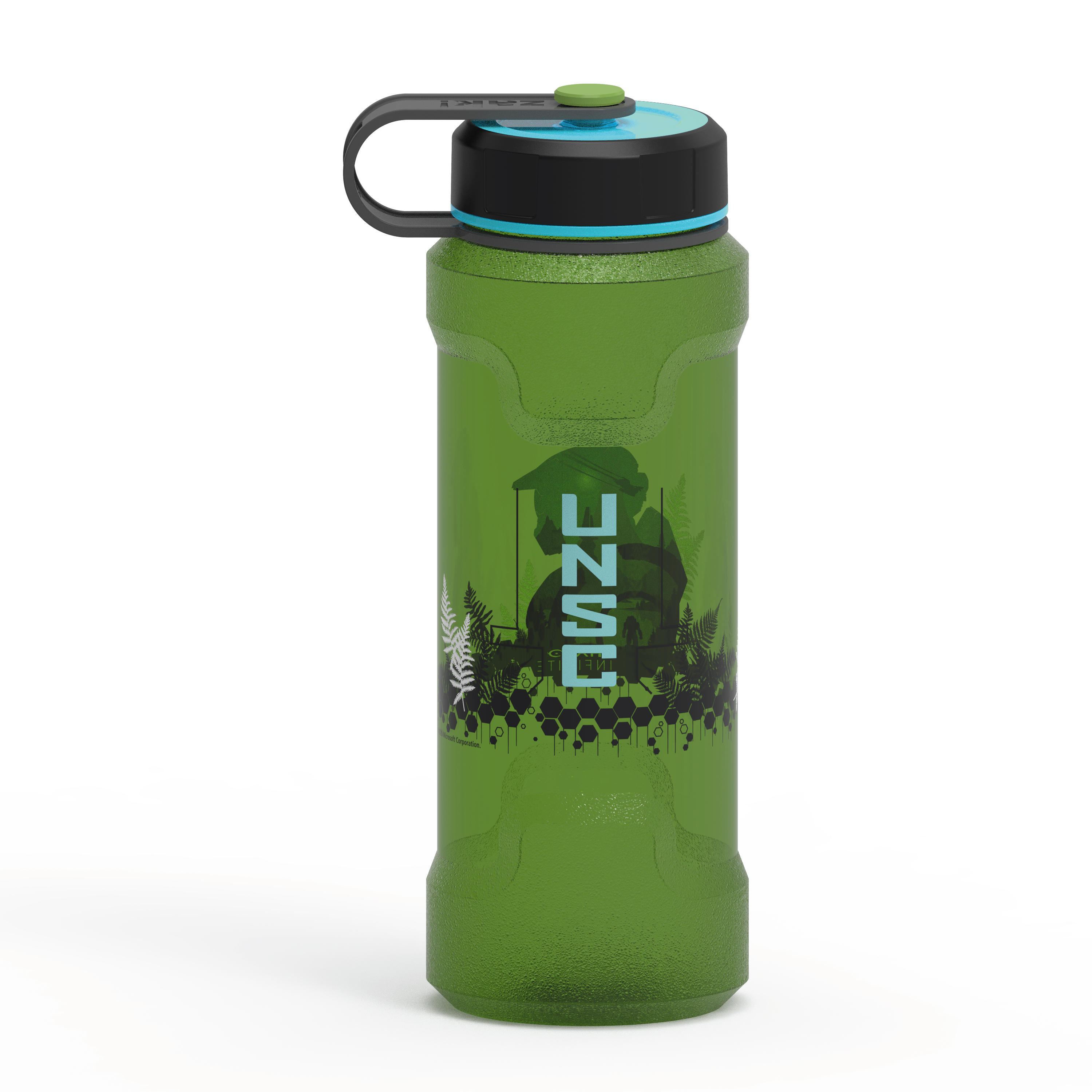 Halo 36 ounce Reusable Plastic Water Bottle, United Nations Space Command slideshow image 3