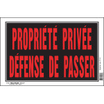 "French Private Property No Trespassing Sign, 8"" x 12"""