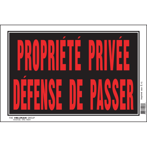 French Private Property No Trespassing Sign (8