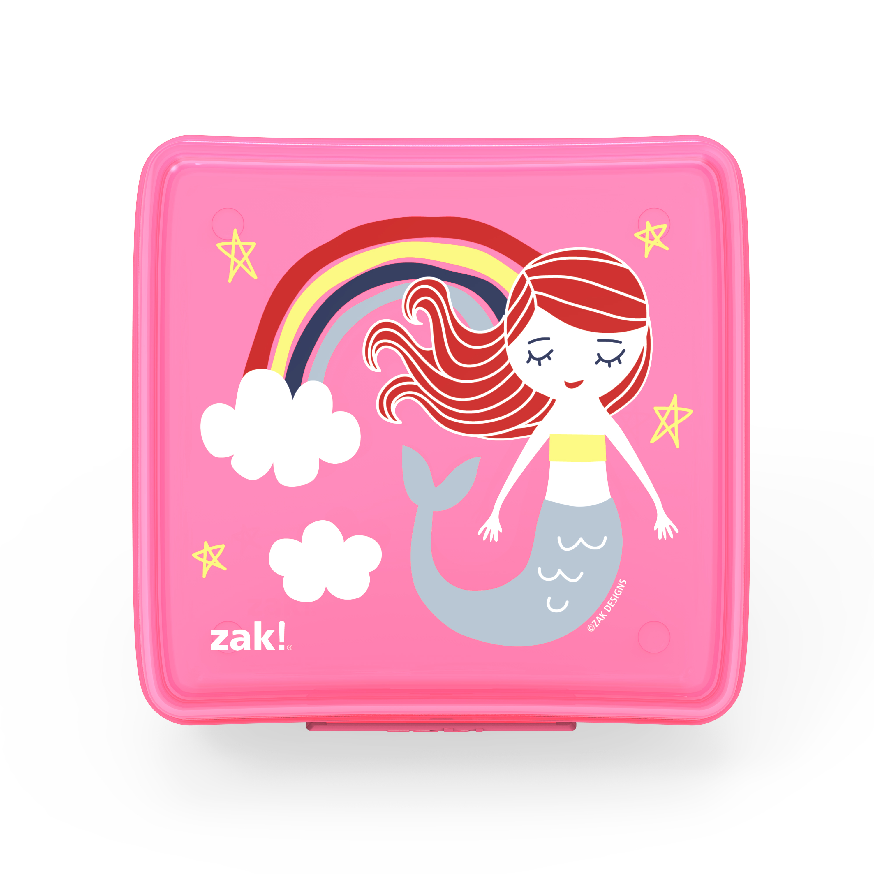 Happy Things Reusable Hinged Food Container, Mermaids slideshow image 1