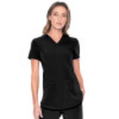 Urbane ICON V-Neck Super Stretch Scrub Top for Women: 2-Pocket, Contemporary Slim Fit, Ultra Soft Medical Scrubs 9734-