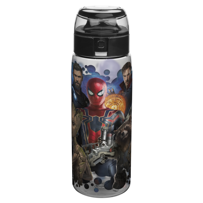 Marvel Comics 25 ounce Water Bottle, Spider-Man, Groot, Star-Lord & Rocket Raccoon slideshow image 1