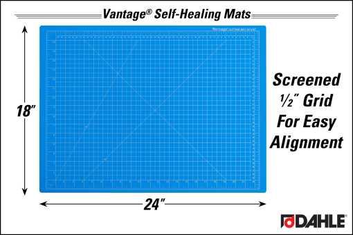 "Dahle Vantage® 18"" x 24"" Self-Healing Cutting Mat, Blue - InfoGraphic"
