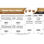 Cherry Wooden Plugs & Buttons Assortment (Round Head, Flat Head, & Screw Hole Button)