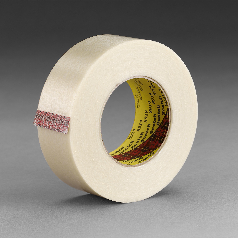 Scotch® Filament Tape 892, Clear, 18 mm x 330 m, 5.5 mil, 8 rolls per case