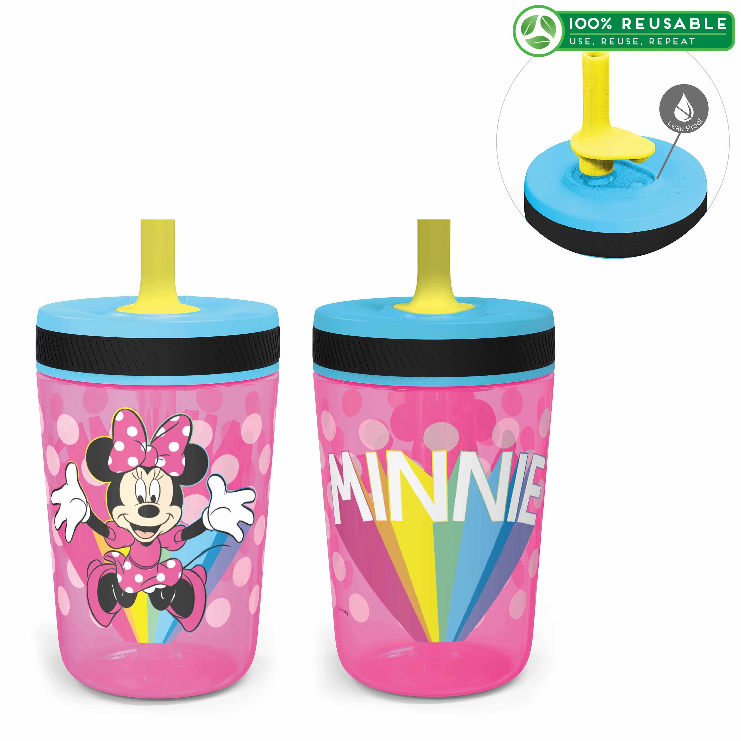 Disney 15  ounce Plastic Tumbler, Minnie Mouse, 2-piece set slideshow image 1