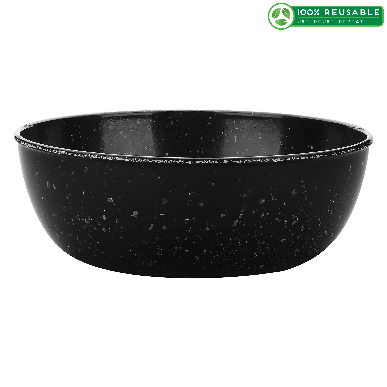 Confetti 3 quart Serving Bowl, Black & White slideshow image 1