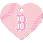 Boston Red Sox Pink Large Heart Quick-Tag