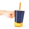 Zak Hydration 16 ounce Mighty Mug Tumbler with Straw, Navy slideshow image 1