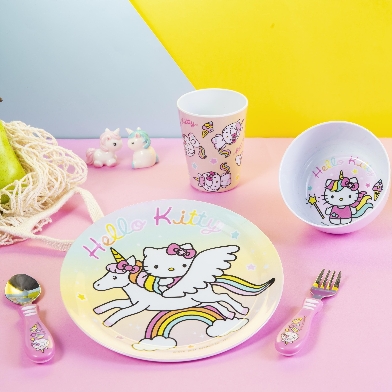 Sanrio Dinnerware Set, Hello Kitty, 5-piece set slideshow image 3