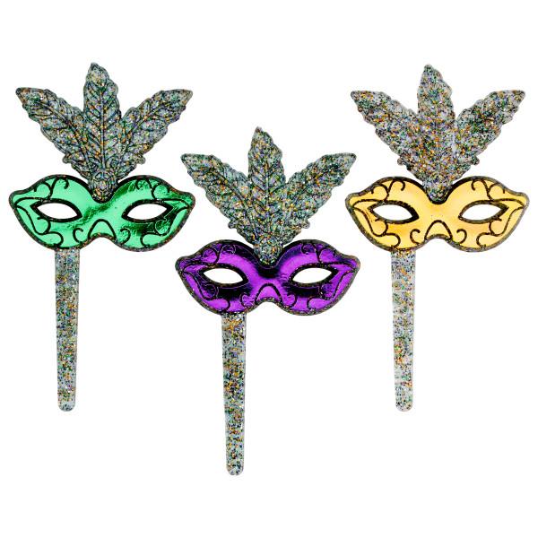 Mardi Gras Glitter Mask DecoPics®