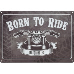 "Born to Ride Novelty Sign (10"" x 14"")"