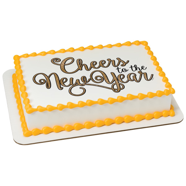 Cheers to the New Year! PhotoCake® Edible Image®