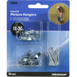 Hillman Zinc Conventional Picture Hanging Kits