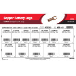 Copper Battery Lugs Assortment (6 thru 4/0 Gauge)