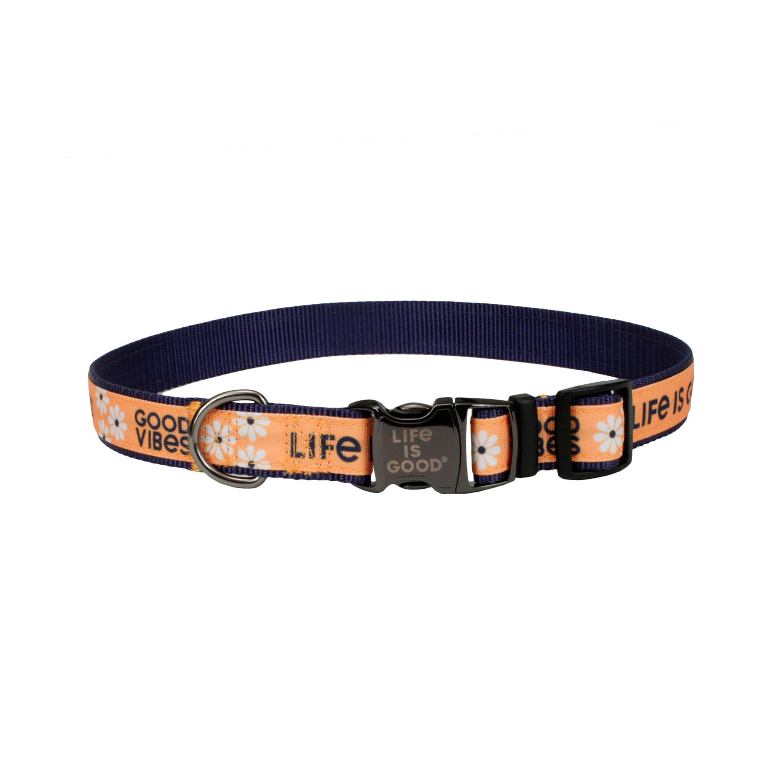 Life is Good® Canvas Overlay Dog Collar