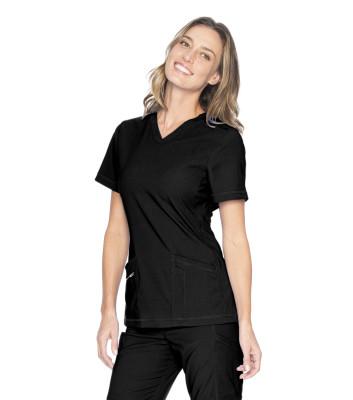 Urbane Align 4 Pocket Scrub Top for Women: Contemporary Slim Fit, Super Stretch V-Neck Medical Scrubs 9167-Urbane