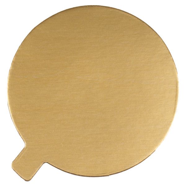 "4"" Round Black/Gold Reversible Waxed Corrugated Cake Board"