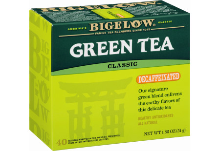 Green Tea Decaf 40 count- Case of 6 boxes- total of 240 teabags