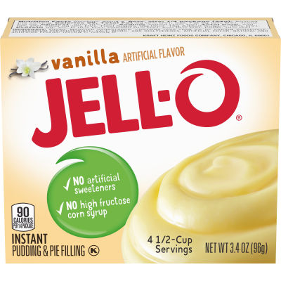 Jell-O Instant Vanilla Pudding & Pie Filling 3.4 oz Box