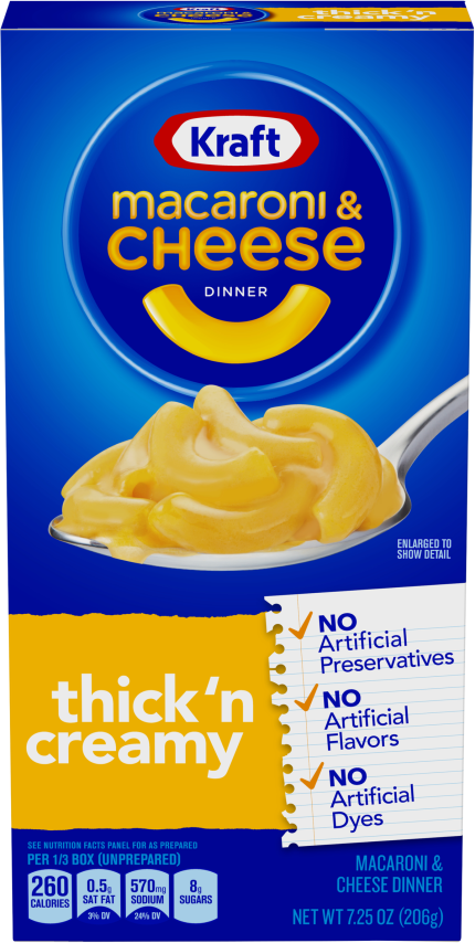 Kraft Thick & Creamy Macaroni & Cheese Dinner 7.25 oz Box